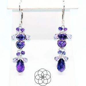 Amethyst and 92.5 Sterling earrings $65